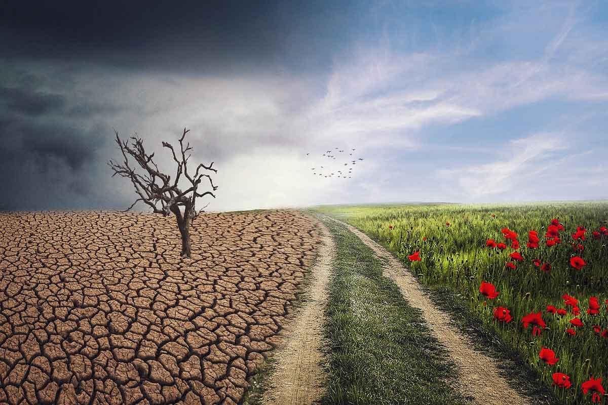 droogte door klimaatverandering
