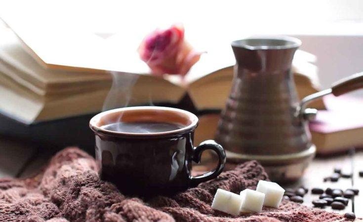 warme trui koffie