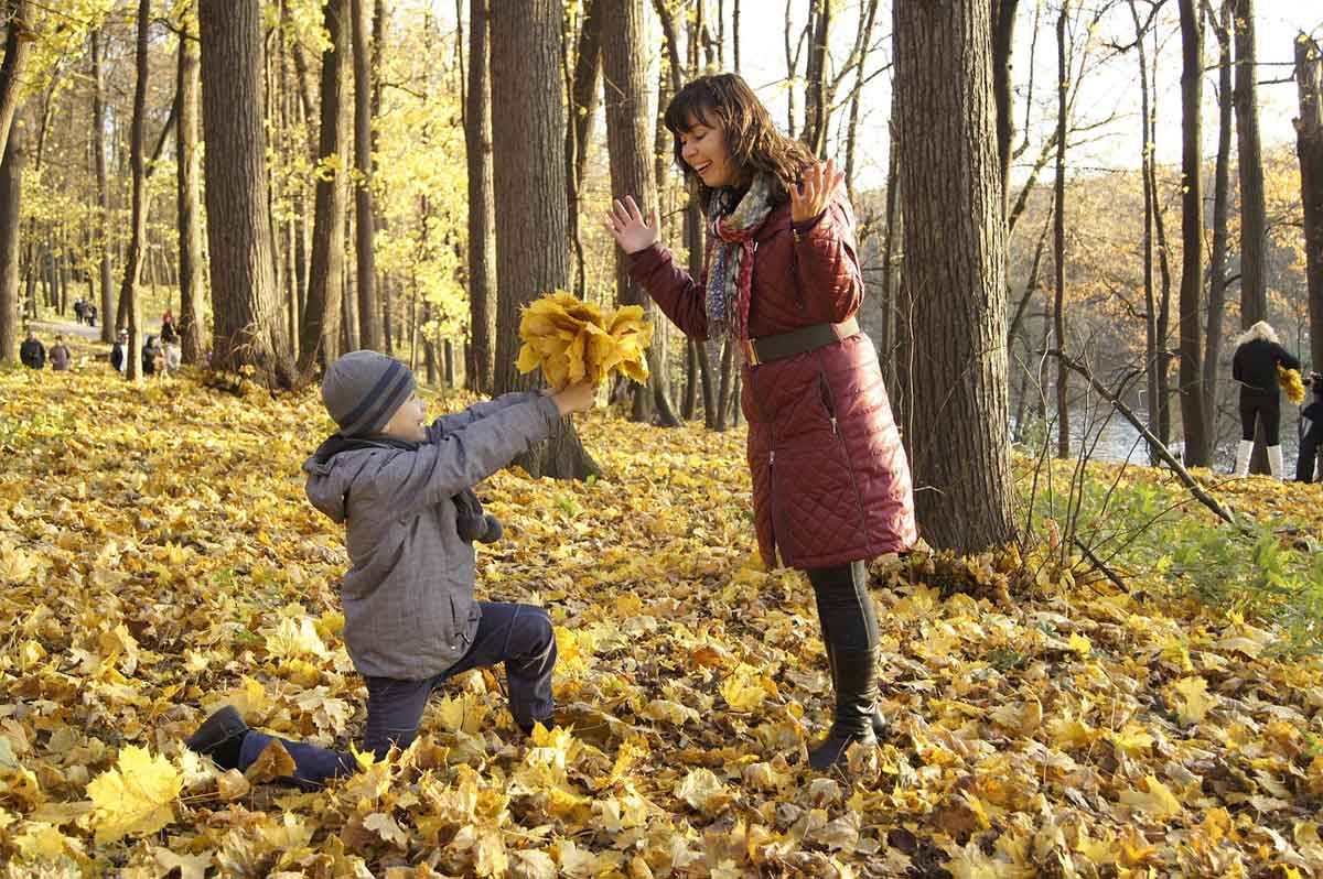natuur met kind in het bos